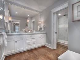 Gray Bathroom Walls With White Cabinet Paint Color This Gray Benjamin Moore Bathroom Colors