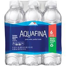Purifying Drinking Water Aquafinaar Purified Drinking Water 6 1 L Bottles Walmartcom