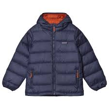<b>Patagonia</b> - Navy <b>Hi Loft Down</b> Hooded <b>Jacket</b> - ru.babyshop.com