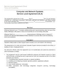 Free Service Contract Template It Service Contract Template Free Service Contract Template