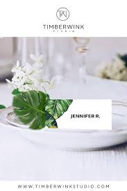 Place Setting Template Unique Tropical Wedding Place Card Printable Name Cards Escort Card