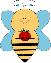yellow apple clipart. blue star bee with an apple yellow clipart