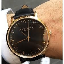 lw43 · mens watch · gold watch black dial