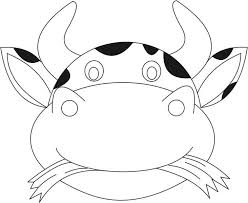e8b862841e0cb67a52a1aba5470c85a1 cow mask printable coloring page for kids my style pinterest on safari masks printable