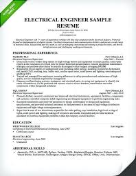 Sample Resume For Engineers Electrical Engineer Resume Sample Sample ...