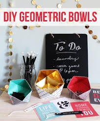 Cool DIY Ideas for Fun and Easy Crafts - DIY Geometric Bowls - Awesome  Pinterest DIYs