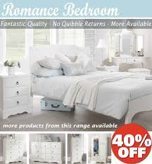 More Bedroom Furniture Romance White Bedroom Furniture Bedside Table Chest Of Drawers