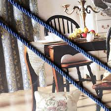 sofa cushion cover pipping cord three strands of blue rope decorative accessories 6mm diameter sell by 5 meters per bale