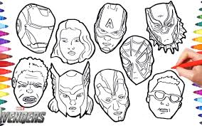 Marvels Thes Coloring Pages Free Exceptional Infinity War Online Pdf