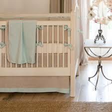 coastal crib bedding light blue linen crib bedding