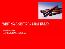 writing a critical lens essay ppt video online writing a critical lens essay