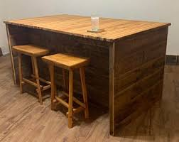 Rustic kitchen island table Seating Large Rustic Kitchen Island Etsy Rustic Kitchen Island Etsy