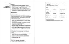 Medical Technologist Resume Sample Photographic Gallery Sample