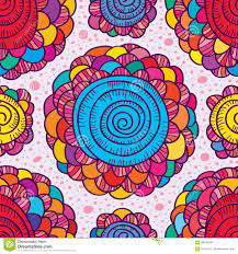 Drawingcolor Flower Drawing Color Swirl Seamless Pattern Stock Vector Image