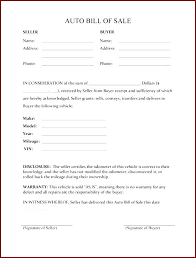 Florida Auto Bill Of Sale Form Free Auto Bill Of Sale Example Co Printable Automobile Florida