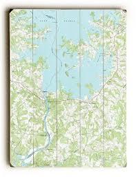 Nc Lake Norman South Nc 1970 Topo Map Sign Island