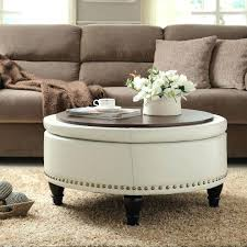 leather and wood coffee table round wood coffee table tray for white leather ottoman coffee home leather and wood coffee table