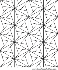 shapes coloring page geometric design drawings awesome pages aquarium color tracing