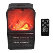 details about 900w wall mount electric fireplace flame heater remote office home room fan heat