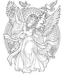 Christmas Angel Coloring Page Planner Clipart Angel Coloring