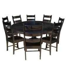 rustic round kitchen table. Nottingham-rustic-solid-wood-black-round-dining-room- Rustic Round Kitchen Table