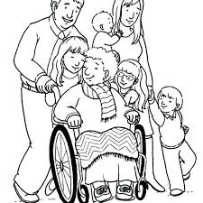 my family coloring page pages grandmother and her big proud for s my family coloring page