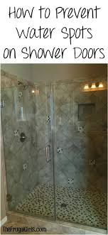 how to clean glass shower doors with hard water stains how to prevent water spots on