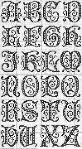 Cross Stitch Free Chart クロスステッチフリーチャート Alphabet