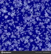 Abstract Light Snowflakes On Dark Blue Background Winter Texture