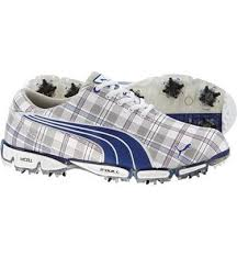 puma golf shoes mens. puma men\u0027s super cell fusion ice golf shoes (plaid/surf) mens
