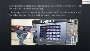How Much Money Does A Vending Machine Make Impressive 48 Mistakes You Don't Want To Make Getting Into The Vending Machine Bu