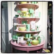 Love the pastel tones of this crockery in Leila's General Store, Stockholm  - came away with a