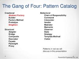 Design Patterns Gang Of Four Amazing Design Pattern Abstract Factory Singleton