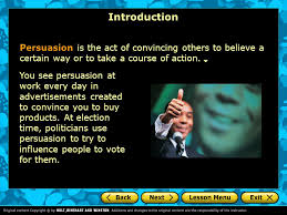 persuasive essay introduction a writers checklist choosing an  introduction persuasion is the act of convincing others to believe a certain way or to take