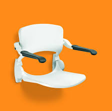 linido wall mounted shower seat with backrest arms