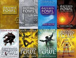 artemis fowl series by eoin colfer the series has at least three totally diffe covers per book these are the 8 books but some of the covers are