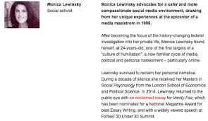 monica lewinsky mentor mentoring and recovery monica lewinsky s ted talk bio proof you can reclaim your identity and your