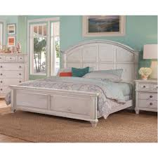 white panel bed. Plain White American Woodcrafters Sedona Antique Cobblestone White King Panel Bed Throughout R