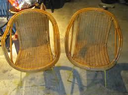 vintage mid century modern patio furniture. Vintage Mid Century Modern Chair Metal Legs Wicker Patio Furniture