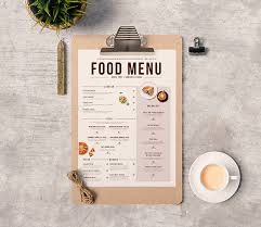 Free Food Menu Template Classy 48 Free Food Restaurant Menu Templates XDesigns