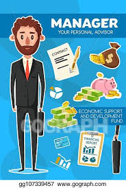 Vector Stock Manager Profession Personal Financial