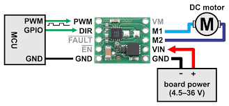 pololu max14870 single brushed dc motor driver carrier minimal wiring diagram for connecting a microcontroller to a max14870 single brushed dc motor driver carrier