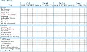 Chore Lists For Teens Kids Charts Choir Chart For Chores Teens Chore Teenagers