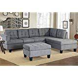 teal living room furniture. Sofa 3-Piece Sectional With Chaise And Ottoman Living Room Furniture, Teal Living Room Furniture