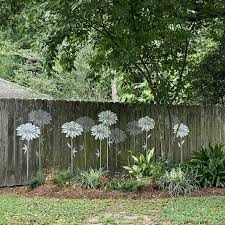 stencil wall decor garden fence art
