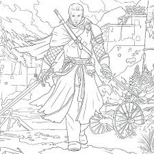 Assassins Creed Coloring Pages Assassins Creed Coloring Pages Skin