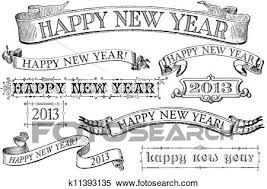 vintage happy new year banner clip art. Set Of Distressed Oldstyle Happy New Year Stamps For 2013 Similar In Style To Imprints From The Isolated On White Throughout Vintage Banner Clip Art