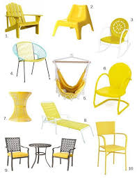 yellow outdoor furniture. under 200 sunny summery yellow outdoor furniture