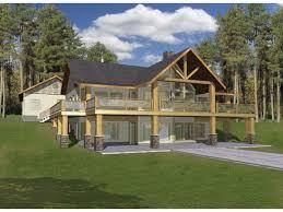 image of walkout basement house plans