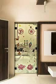 designed temple door interior glass